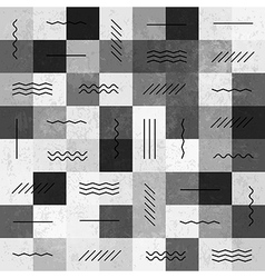 Monochrome seamless pattern with lines vector