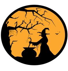Halloween button vector