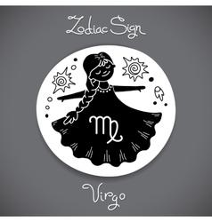 Virgo zodiac sign of horoscope circle emblem in vector