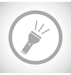 Grey flashlight sign icon vector