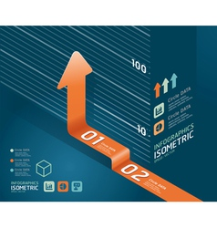Infographic orange arrow diagram chart vector