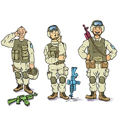 There soldiers vector