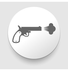 Revolver icon on white background vector