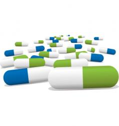Green pills vector