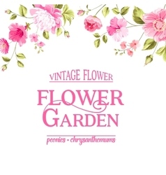 Floral card blooming garden vector