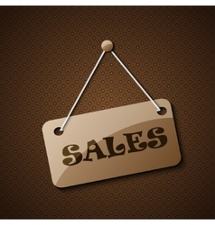 Sales hanging sign or for your text on an abstract vector