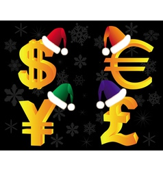 Gold currency xmas vector