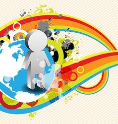 Abstract retro banner design vector