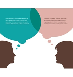 Man and woman talks vector