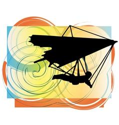Hang glider vector