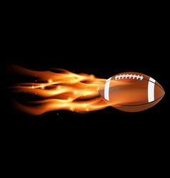 Flaming football vector