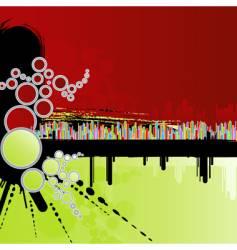 Rainbow grunge background vector