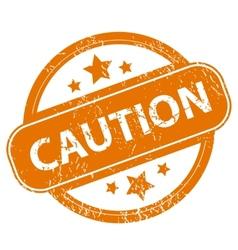Caution grunge icon vector