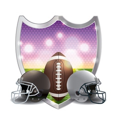 American football and helmets badge emblem vector
