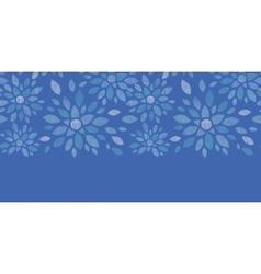Blue textile peony flowers horizontal seamless vector