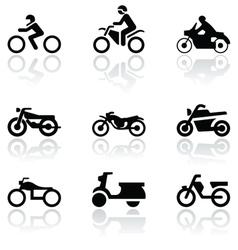 Motorbike symbol set vector