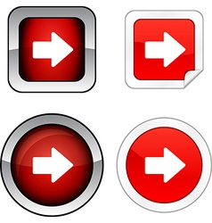 Arrow button set vector