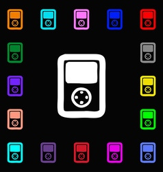 Tetris video game console icon sign lots of vector