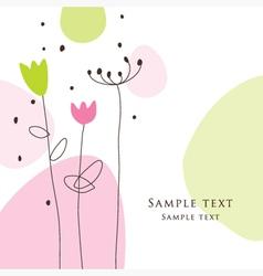 Floral design vector