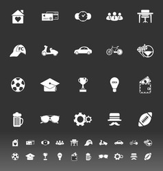 Normal gentleman icons on gray background vector