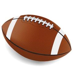 Realistic american football vector