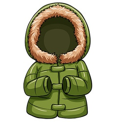 Green body warmer vector