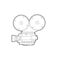 Old movie camera vector