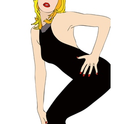 A sexy body in a tight dress vector
