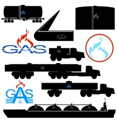 Transportation and storage of natural gas vector