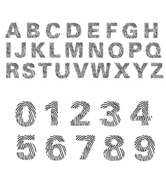 Alphabet of fingerprint vector