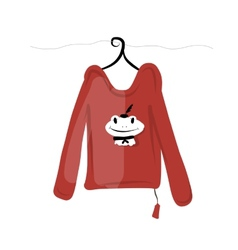 Top on hangers with funny frog design vector