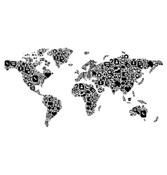 Concept of world map vector
