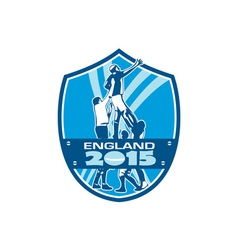 Rugby lineout england 2015 shield vector