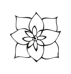 Fantasy flower in tattoo style vector
