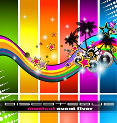 Discotheque flyer vector