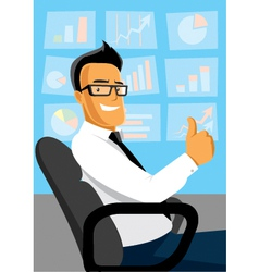 Businessman at work vector