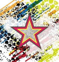Retro star on grunge background vector