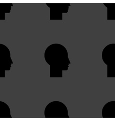 Man silhouette profile picture web icon flat vector