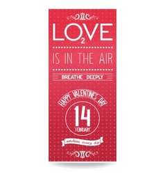 Just valentines day flyer with text design vector
