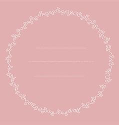Delicate floral frame vector