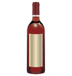 Rose wine bottle vector