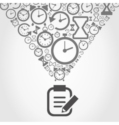 Hours from notebook vector