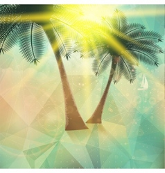 Seaside view poster geometric abstract vector