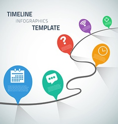 Web infographic timeline speech bubble template vector
