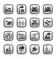 Electricity and energy source icons vector