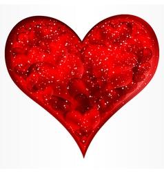 Big red glitter heart vector