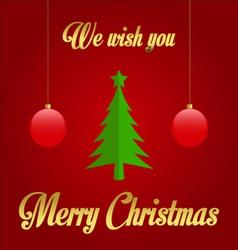 We wish you merry christmas vector