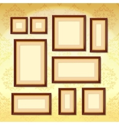 Dark wood frames vector