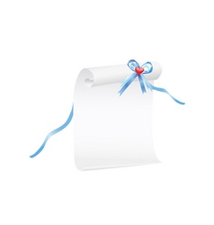 Scroll of white paper vector