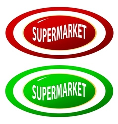 Supermarket icons set vector